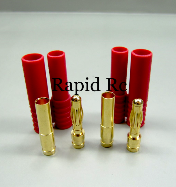 HXT 4mm Gold Connector w/ Protector (1 pcs/set)
